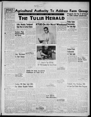 Primary view of object titled 'The Tulia Herald (Tulia, Tex), Vol. 47, No. 46, Ed. 1, Thursday, November 18, 1954'.