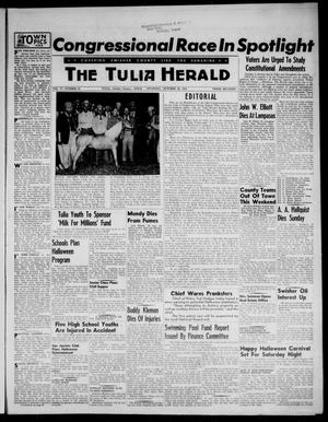 Primary view of object titled 'The Tulia Herald (Tulia, Tex), Vol. 47, No. 43, Ed. 1, Thursday, October 28, 1954'.