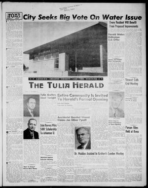 Primary view of object titled 'The Tulia Herald (Tulia, Tex), Vol. 47, No. 33, Ed. 1, Thursday, August 19, 1954'.