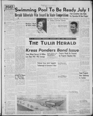 Primary view of object titled 'The Tulia Herald (Tulia, Tex), Vol. 47, No. 25, Ed. 1, Thursday, June 24, 1954'.