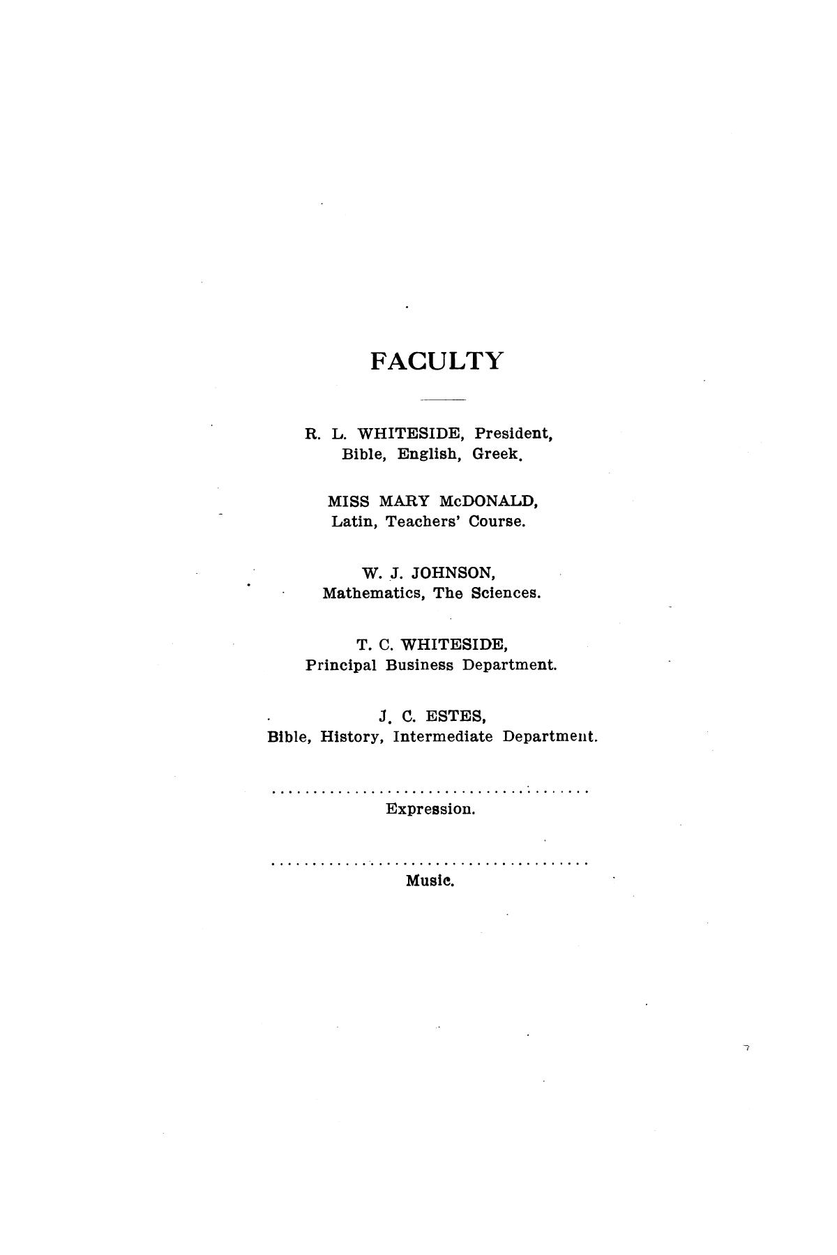 Catalog of Abilene Christian College, 1910-1911                                                                                                      [Sequence #]: 8 of 25