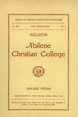 Primary view of Catalog of Abilene Christian College, 1927-1928
