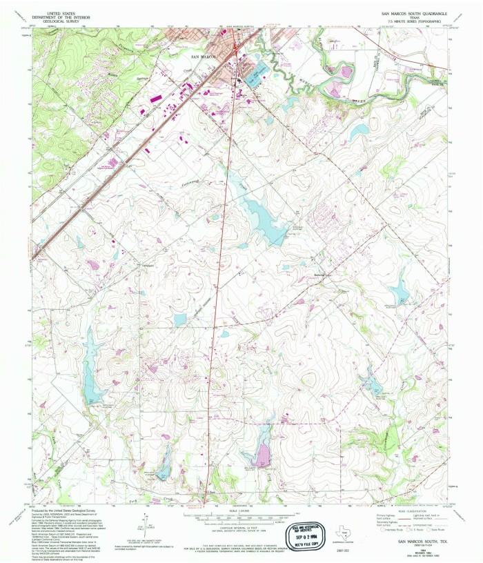 San Marcos South Quadrangle - The Portal to Texas History on 123 san marcos texas map, prospect park san marcos map, downtown san marcos tx map, float the river san marcos tx map, austin city map, blanco river san marcos tx map,
