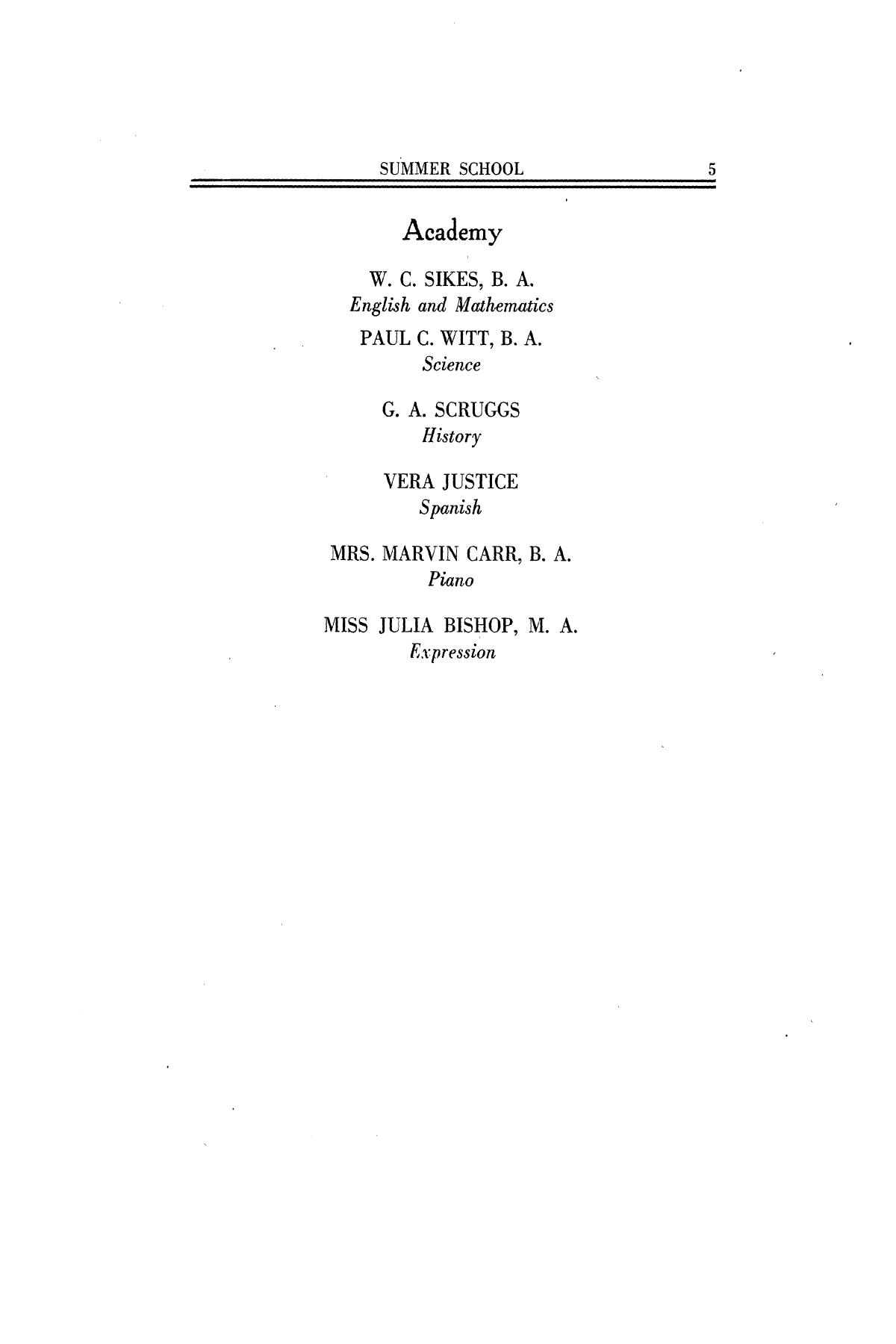 Catalog of Abilene Christian College, 1926                                                                                                      5