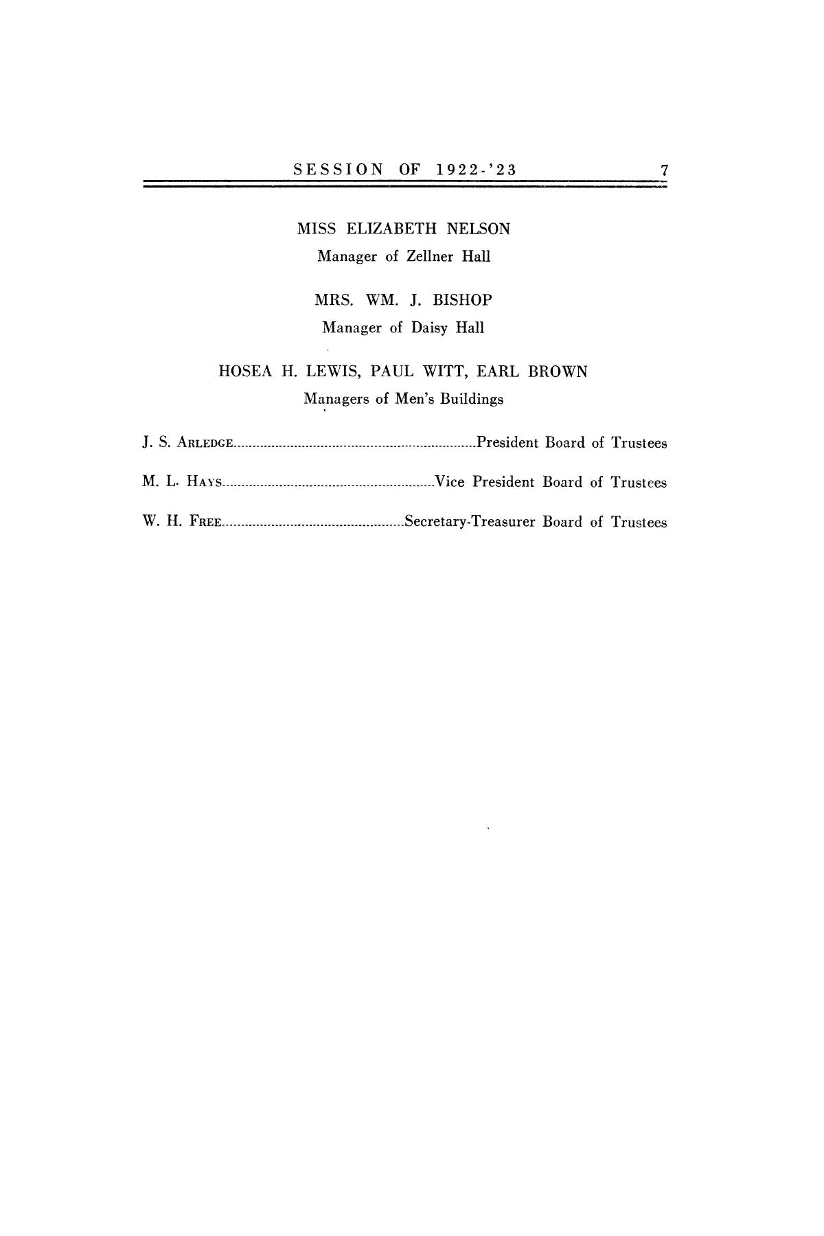 Catalog of Abilene Christian College, 1922-1923                                                                                                      7