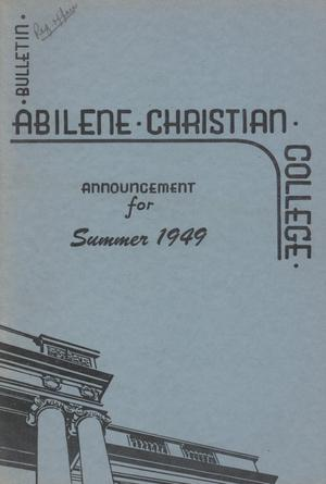 Primary view of Catalog of Abilene Christian College, 1949