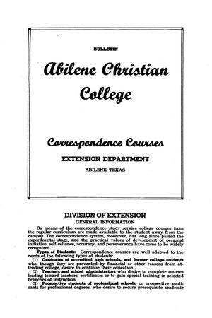 Primary view of object titled 'Catalog of Abilene Christian College, [1947]'.