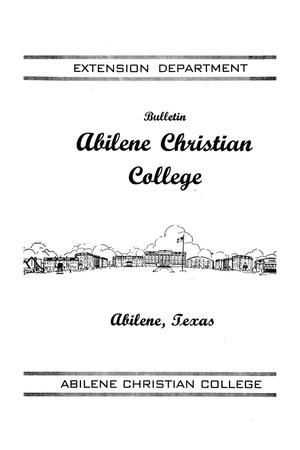 Primary view of object titled 'Catalog of Abilene Christian College, 1944'.