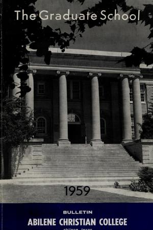 Primary view of object titled 'Catalog of Abilene Christian College, 1959'.