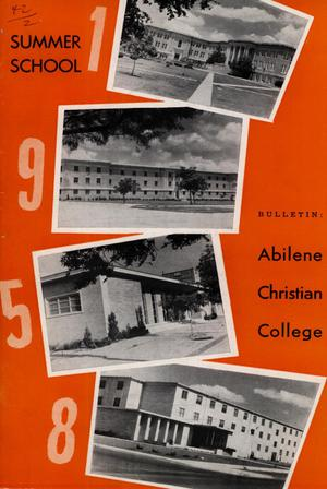 Primary view of object titled 'Catalog of Abilene Christian College, 1958'.