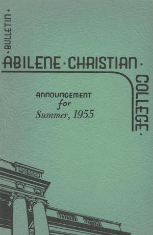 Primary view of object titled 'Catalog of Abilene Christian College, 1955'.