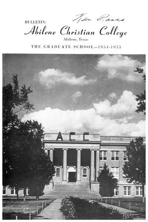 Catalog of Abilene Christian College, 1954-1955