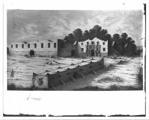 Primary view of object titled '[The Alamo illustration]'.