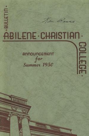 Primary view of object titled 'Catalog of Abilene Christian College, 1950'.