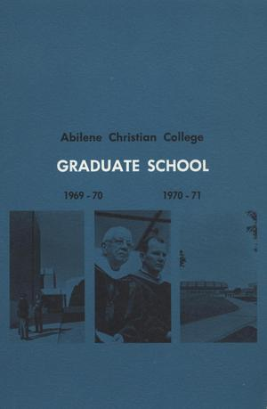 Primary view of object titled 'Catalog of Abilene Christian College, 1969-1971'.