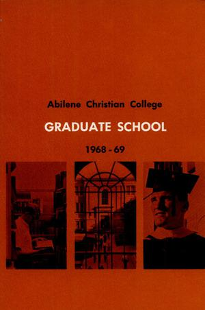 Primary view of object titled 'Catalog of Abilene Christian College, 1968-1969'.