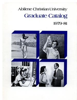 Primary view of object titled 'Catalog of Abilene Christian University, 1979-1981'.