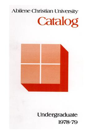 Primary view of object titled 'Catalog of Abilene Christian University, 1978-1979'.