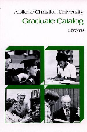 Primary view of Catalog of Abilene Christian University, 1977-1979