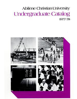 Primary view of Catalog of Abilene Christian University, 1977-1978