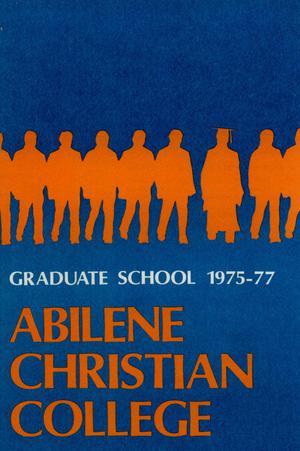Primary view of object titled 'Catalog of Abilene Christian College, 1975-1977'.