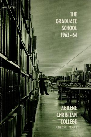 Primary view of object titled 'Catalog of Abilene Christian College, 1963-1964'.