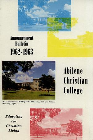 Primary view of object titled 'Catalog of Abilene Christian College, 1962-1963'.