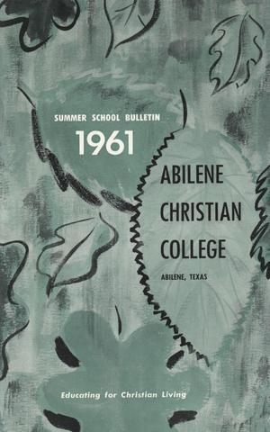 Primary view of object titled 'Catalog of Abilene Christian College, 1961'.