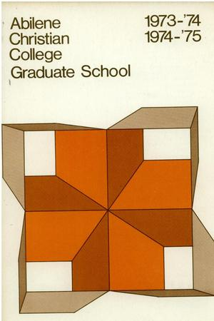 Primary view of object titled 'Catalog of Abilene Christian College, 1973-1975'.