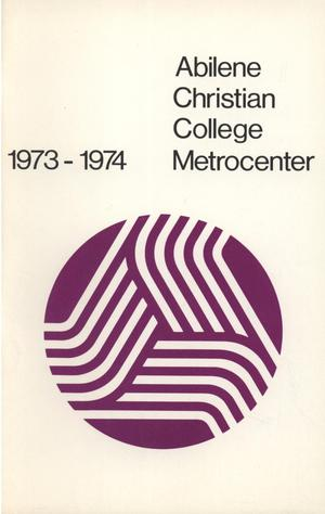 Primary view of object titled 'Catalog of Abilene Christian College, 1973-1974'.