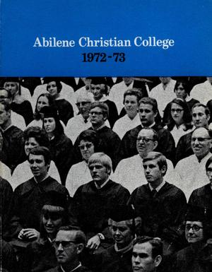 Primary view of object titled 'Catalog of Abilene Christian College, 1972-1973'.