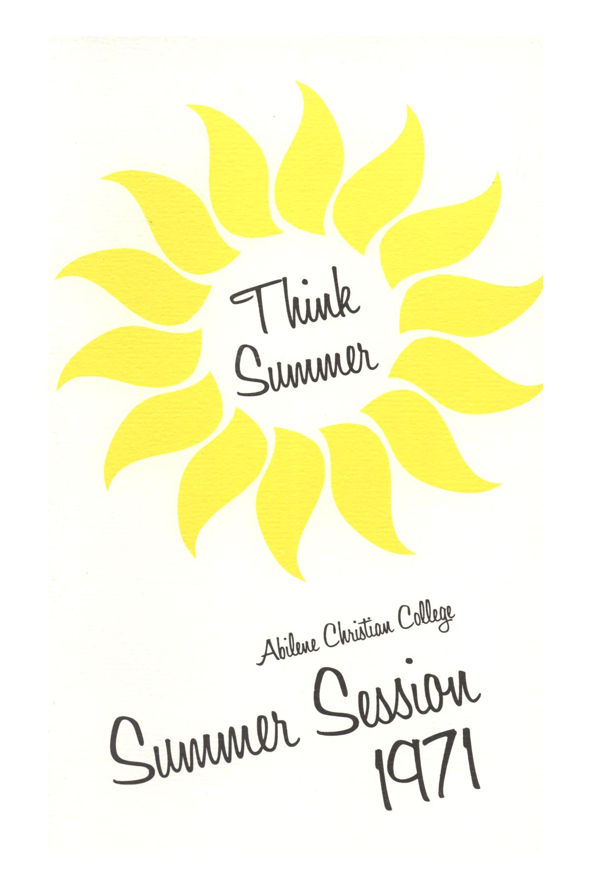 Catalog of Abilene Christian College, 1971                                                                                                      Front Cover