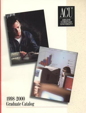 Primary view of object titled 'Catalog of Abilene Christian University, 1998-2000'.