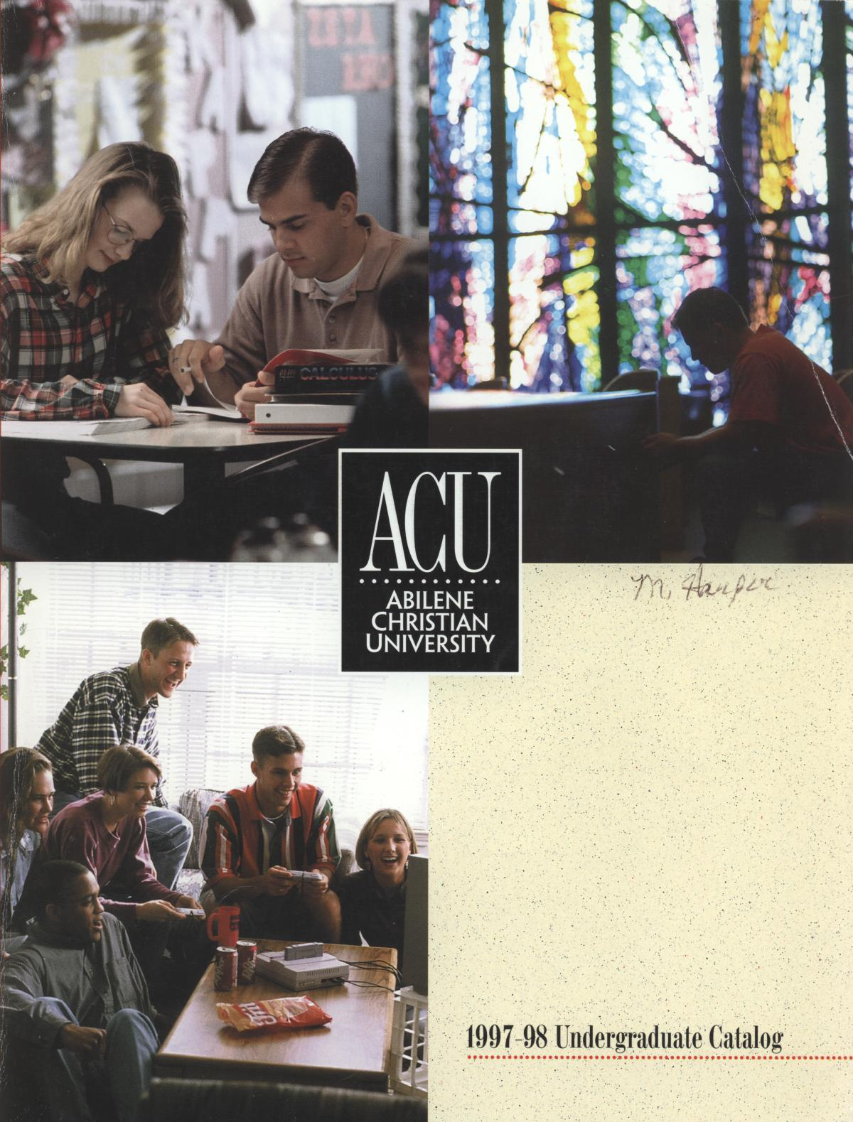 Catalog of Abilene Christian University, 1997-1998                                                                                                      Front Cover