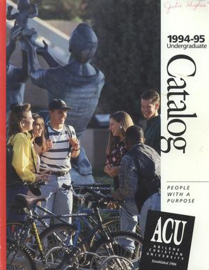 Catalog of Abilene Christian University, 1994-1995