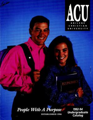 Primary view of object titled 'Catalog of Abilene Christian University, 1992-1994'.