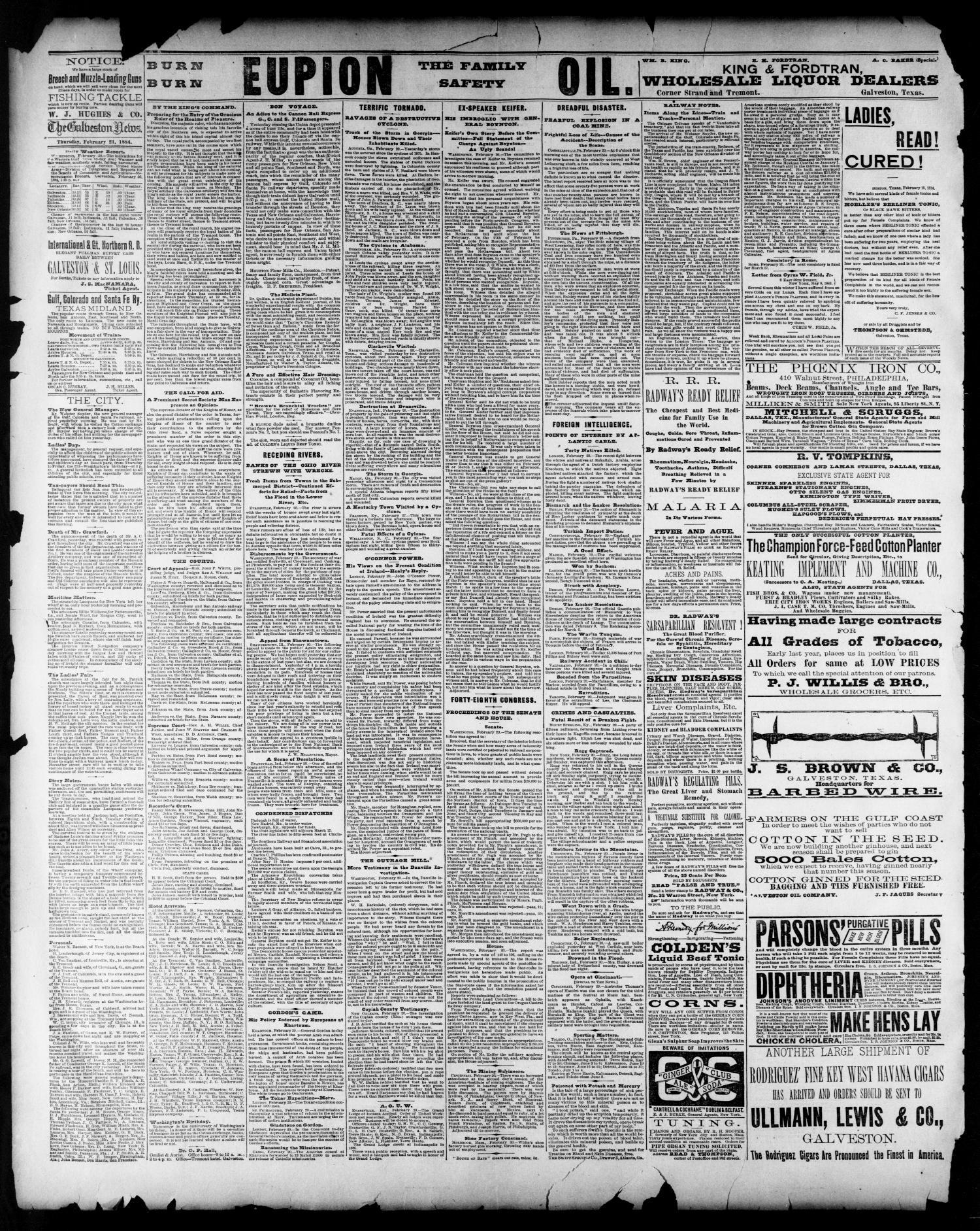 The Galveston Daily News  (Galveston, Tex ), Vol  42, No