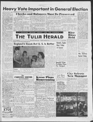 Primary view of object titled 'The Tulia Herald (Tulia, Tex), Vol. 49, No. 44, Ed. 1, Thursday, October 30, 1958'.