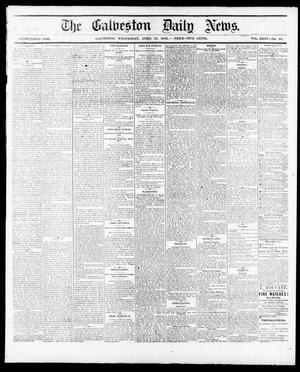 Primary view of object titled 'The Galveston Daily News. (Galveston, Tex.), Vol. 35, No. 88, Ed. 1 Wednesday, April 21, 1875'.
