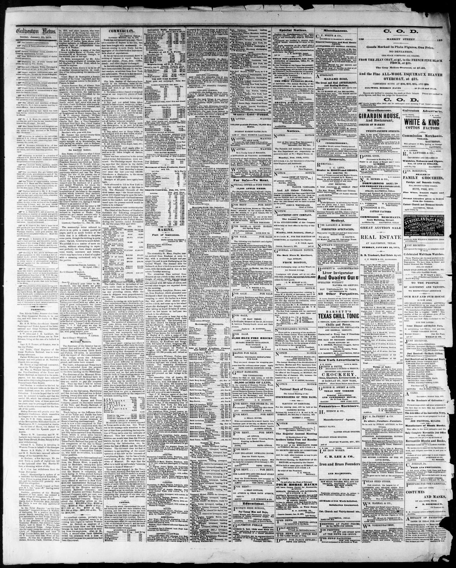 The Galveston Daily News Galveston Tex No Ed Sunday - Microsoft word free invoice template pioneer woman mercantile online store
