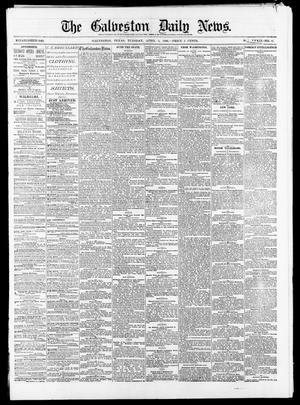 Primary view of object titled 'The Galveston Daily News. (Galveston, Tex.), Vol. 39, No. 12, Ed. 1 Tuesday, April 6, 1880'.