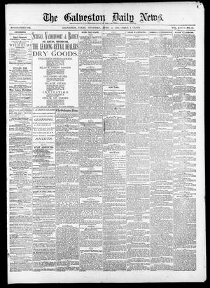 Primary view of object titled 'The Galveston Daily News. (Galveston, Tex.), Vol. 39, No. 20, Ed. 1 Thursday, April 15, 1880'.