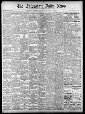 Primary view of object titled 'The Galveston Daily News. (Galveston, Tex.), Vol. 38, No. 135, Ed. 1 Thursday, August 28, 1879'.