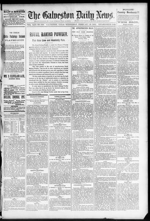 Primary view of object titled 'The Galveston Daily News. (Galveston, Tex.), Vol. 45, No. 303, Ed. 1 Wednesday, February 23, 1887'.
