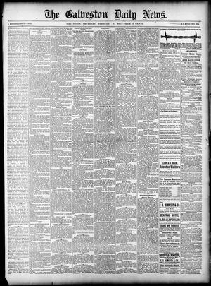 Primary view of object titled 'The Galveston Daily News. (Galveston, Tex.), Vol. 37, No. 292, Ed. 1 Thursday, February 27, 1879'.