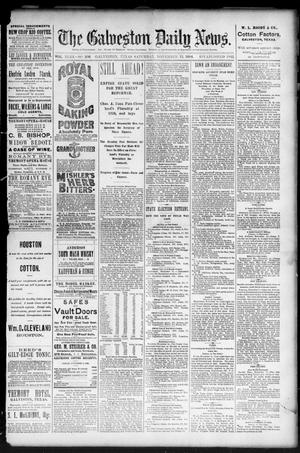 Primary view of object titled 'The Galveston Daily News. (Galveston, Tex.), Vol. 43, No. 206, Ed. 1 Saturday, November 15, 1884'.