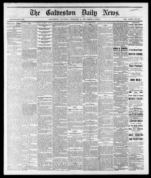 Primary view of object titled 'The Galveston Daily News. (Galveston, Tex.), Vol. 35, No. 289, Ed. 1 Saturday, February 24, 1877'.