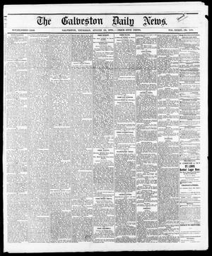 Primary view of object titled 'The Galveston Daily News. (Galveston, Tex.), Vol. 34, No. 189, Ed. 1 Thursday, August 19, 1875'.