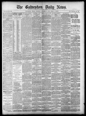 Primary view of object titled 'The Galveston Daily News. (Galveston, Tex.), Vol. 38, No. 182, Ed. 1 Tuesday, October 21, 1879'.
