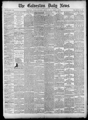 Primary view of object titled 'The Galveston Daily News. (Galveston, Tex.), Vol. 39, No. 136, Ed. 1 Saturday, August 28, 1880'.
